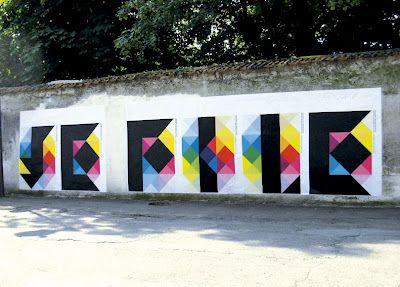 Geometric CMYK street art. #typography