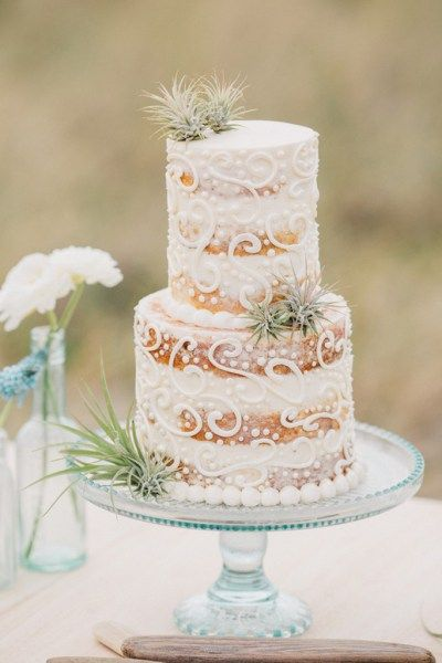Boho Beach Wedding Inspiration - cake