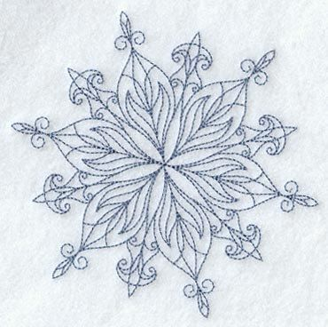 Intricate Snowflake C Embroidered Flour by EmbroideryEverywhere, $12.99
