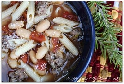 Mommy's Kitchen: Simple Italian Sausage & White Bean Soup