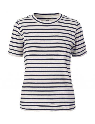 Soft Striped Ecru/Navy Tuba blouse