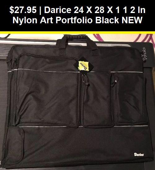 Darice 24-Inch-by-28-Inch-by-1 1//2-Inch Nylon Portfolio Black