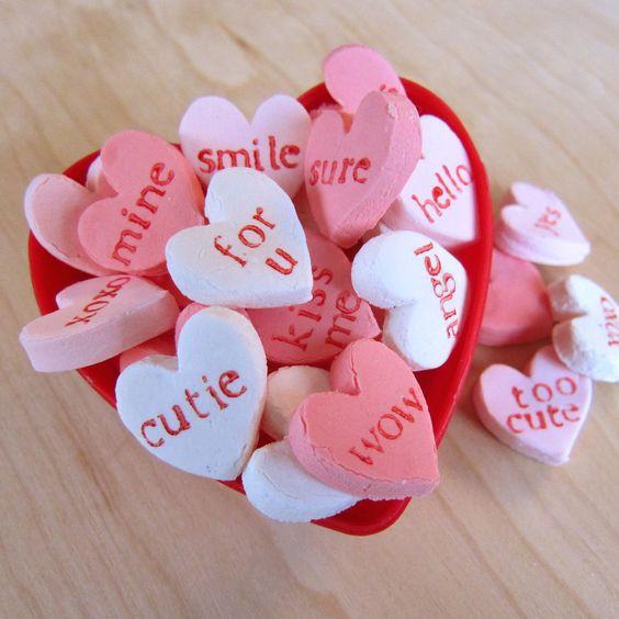 DIY Handmade Candy Conversation Hearts