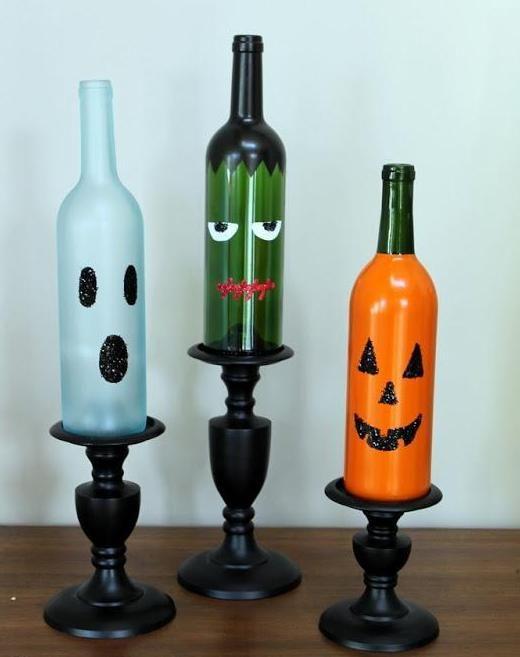 Decoracion con Botellas para Halloween
