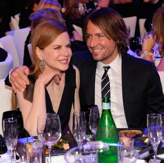 #NicoleKidman and #KeithUrban got cozy during the 2011 Critics' Choice Awards. #cute #celebrity #couple