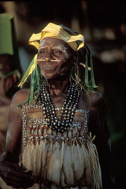 woman photographed in irian jaya west papua new guinea by