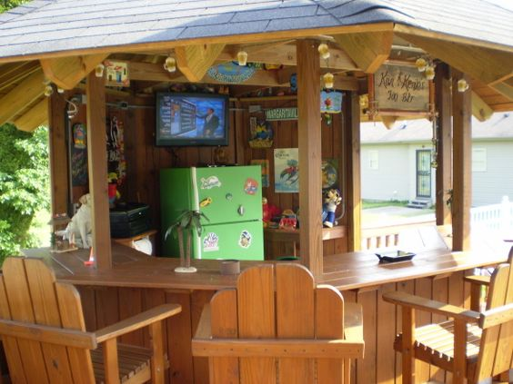 Diy tiki bar by above ground pool my tiki bar a cool for How to be cool at a bar