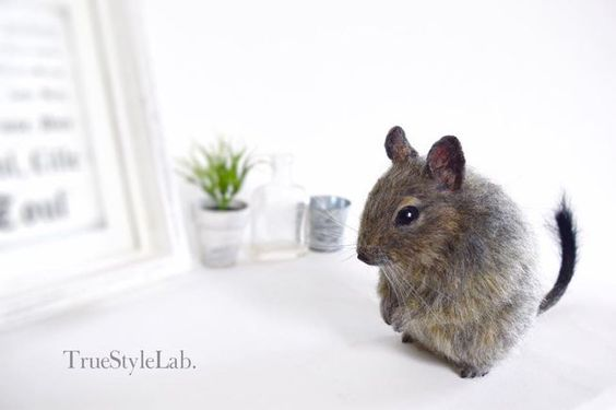 Terumi Ohta uses the art of needle felting to create realistic creatures.