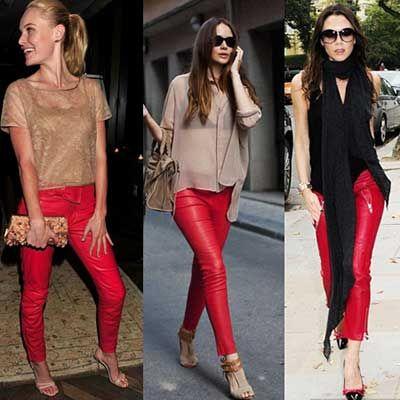 Looks com Calça Vermelha Feminina: Fotos, Modelos, Dicas
