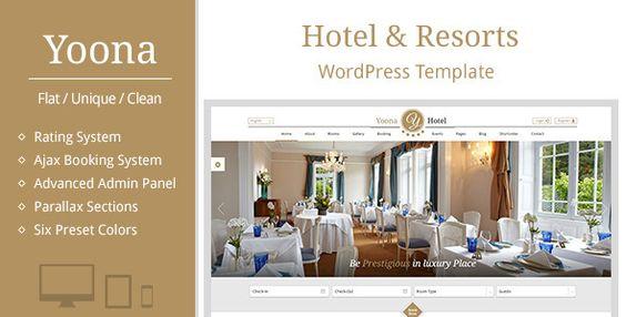 Yoona - Hotel & Resort WordPress Template - Travel Retail