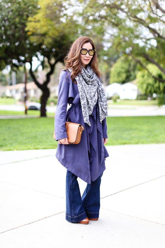 Style: Silky Trench and Scarf