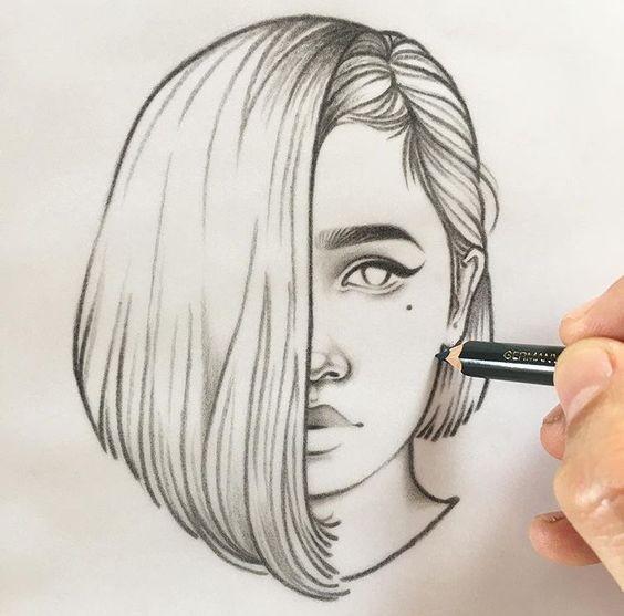 Risunki Devushek 39 Foto Naslazhdajtes Yumorom Portrait Sketches Art Drawings Sketches Simple Art Drawings Sketches