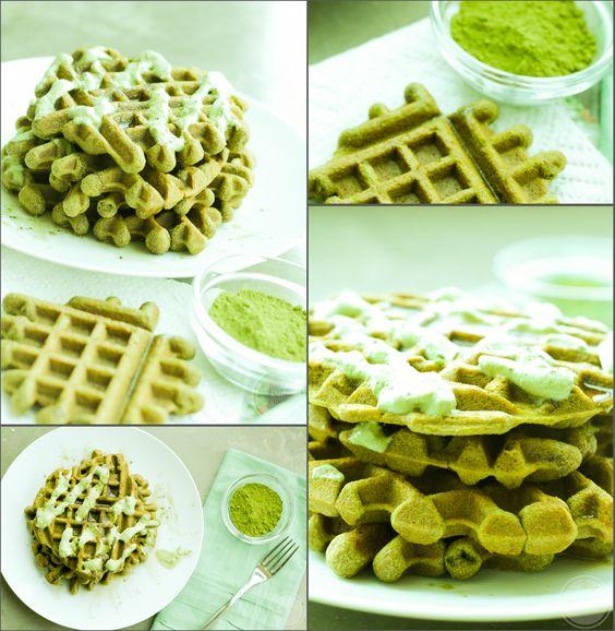 Gluten-Free Matcha Tea Waffles | Eat Chic Chicago | healthy breakfast