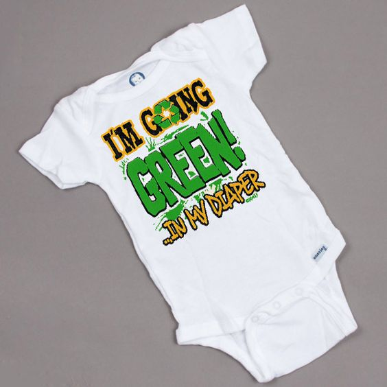 I'm going GREEN! In my diaper