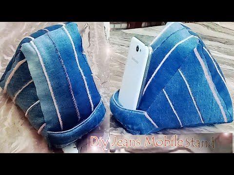 طريقة عمل حامل موبايل جينز How To Sew Jeans Mobil Stand Youtube Sewing Jeans Sewing Jeans