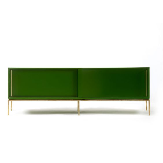 credenza in grass green by regeneration furniture on plum alley cadenza furniture