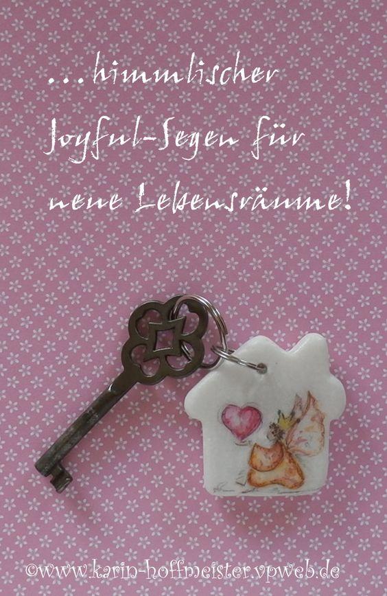 ...Joyful-Angel♥♥♥ Schlüsselanhänger aus Stein...liebevoll handbemalt & gesegnet...für neue und alte Lebensräume♥