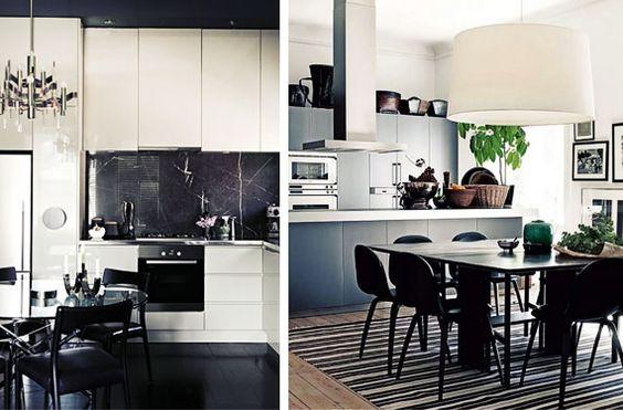 Cocinas modernas en blanco y negro - Cocinas en blanco y negro ...