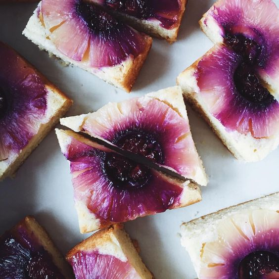 Gorgeous pineapple upside down cake. @ohladycakes on Instagram.