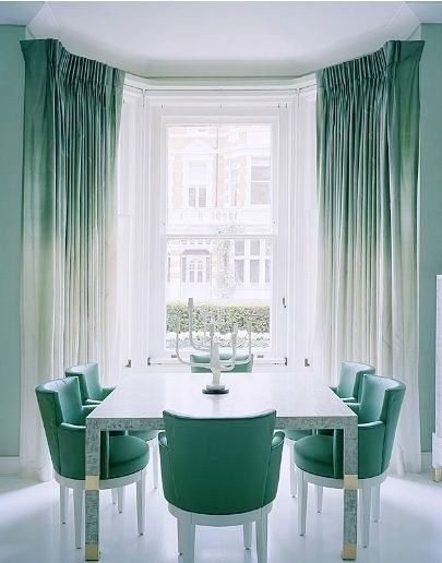 pinterest teal color inspiration | Jo and Joe's Great American Adventure: DIY | Reverse Ombre Curtains: