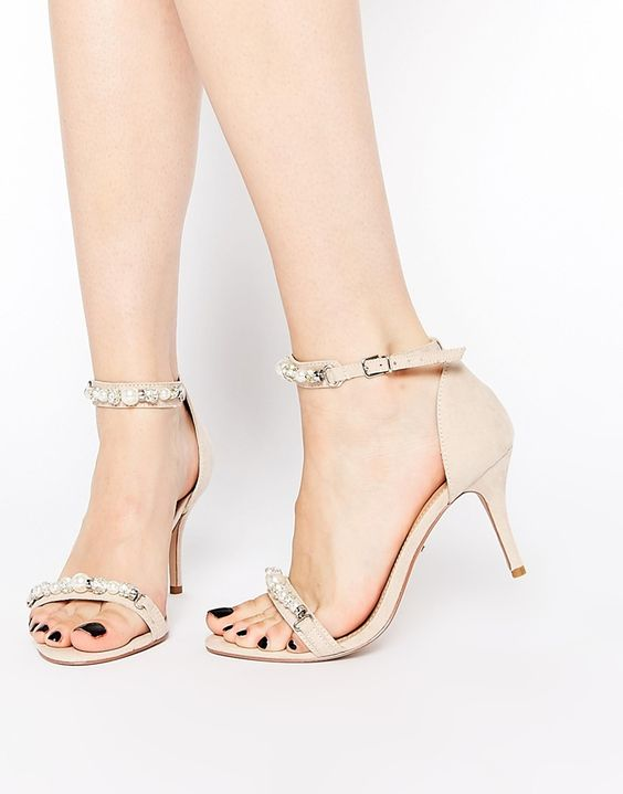 Nude Kitten Heel Sandals | Tsaa Heel