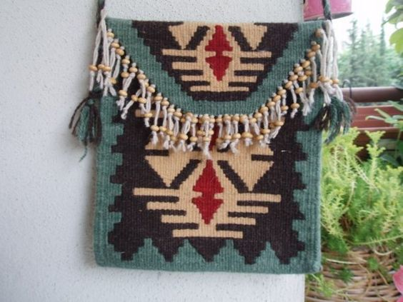 Rugs HANDWOVEN BAG woven purse by SEMYbags on Etsy, $70.00