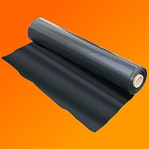 Black Heavy Duty Polythene Plastic Sheeting Damp Proof Membrane