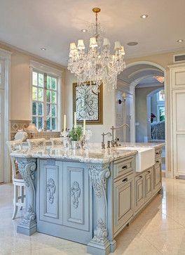 San diego the chandelier and blue kitchen island on pinterest - Kitchen and bath design san diego ...