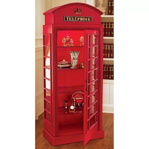 Universal British Telephone China Cabinet   Item# 11811