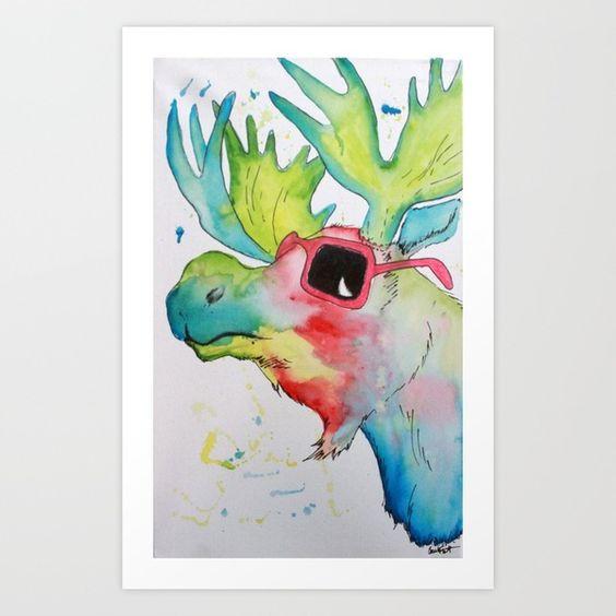 Cool Moose Art Print