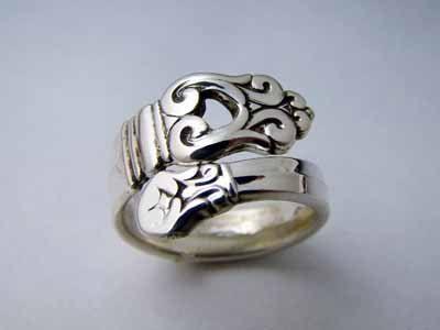 Demitasse Sterling Silver Sidewinder Spoon Ring - Royal Danish. $59.00, via Etsy.
