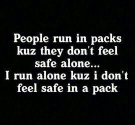 People that run in packs....