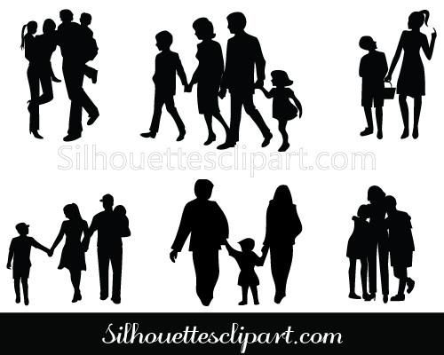 Here We Have A Good Collection Of Family Silhouette Clip Art Very Useful For Presentation In Schools Children To Get Information Visually And Easily 影