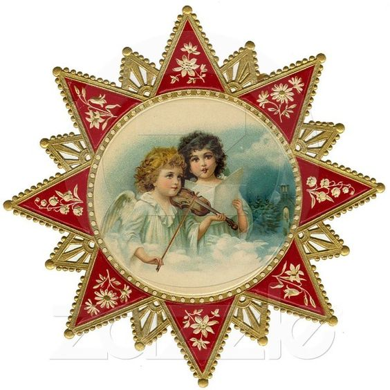 Victorian Christmas Ornament Acrylic Cut Out from Zazzle.com ❤ liked on Polyvore