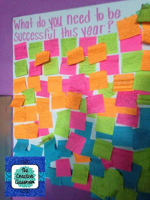 First day ideas. I love sticky notes!