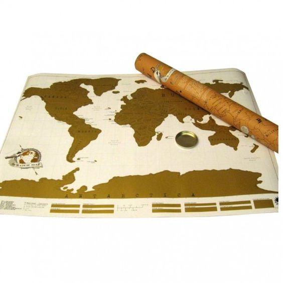 Rubbel Weltkarte - Scratch Map - für Weltenbummler und Globetrotter