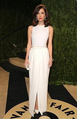 Rose Byrne in classic white gown