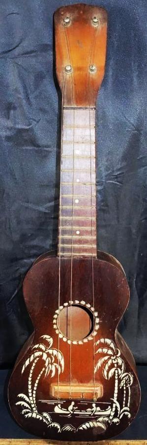 1930s Harmony palm trees stencil soprano ukulele
