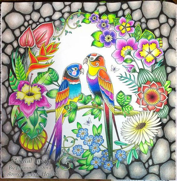 magical jungle coloring pages - jungles coloring books and gel pens on pinterest
