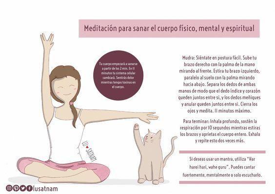 Meditación Para Sanar El Cuerpo Físico Mental Y Espiritual Meditationtechniques Yoga Mantras Vinyasa Yoga Yoga Ashtanga