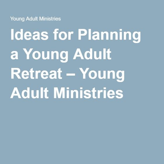 activities for a young adults ministry