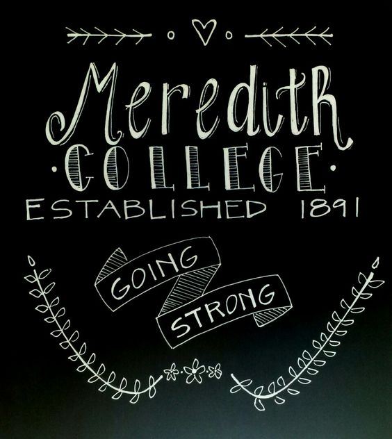 chalk art. Meredith College.