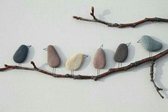 Rock, wire, and branches and you can create birds on a branch, love this idea from do it yourself decorating ideas on Facebook.