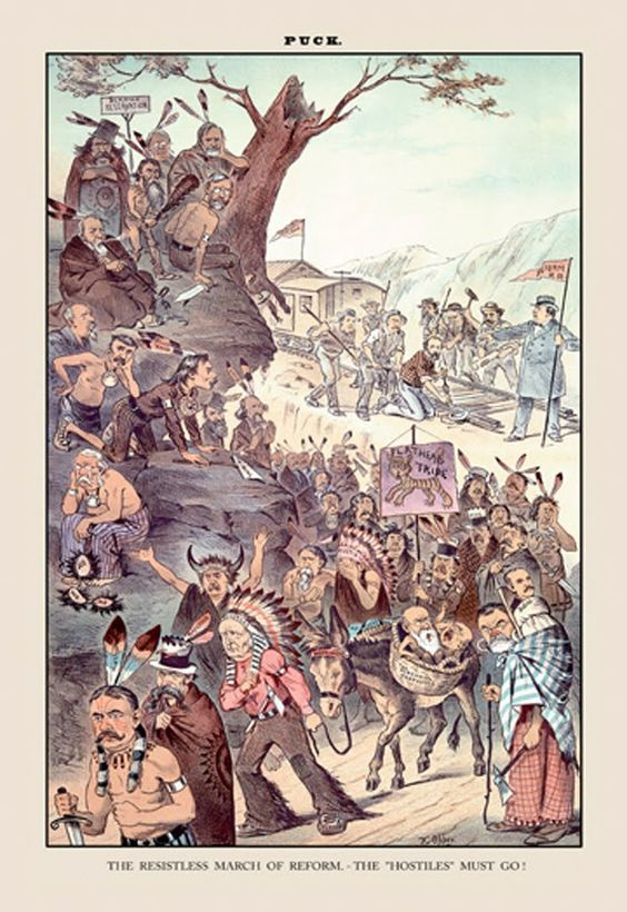 The Resistless March of Reform - Puck, by F. Opper