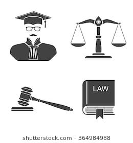 Set Icons On White Background Scales Balance Gavel Book Laws Judge Silhouette Law And Justice Vector Illustrat White Background Background Images Hd Icon