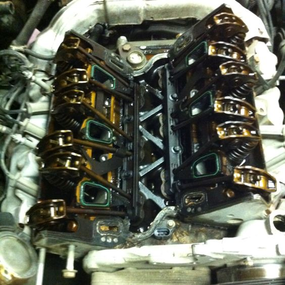 Not one of GM's better ideas. Intake gasket on a 3.4 liter. Really poor design. They all leak.