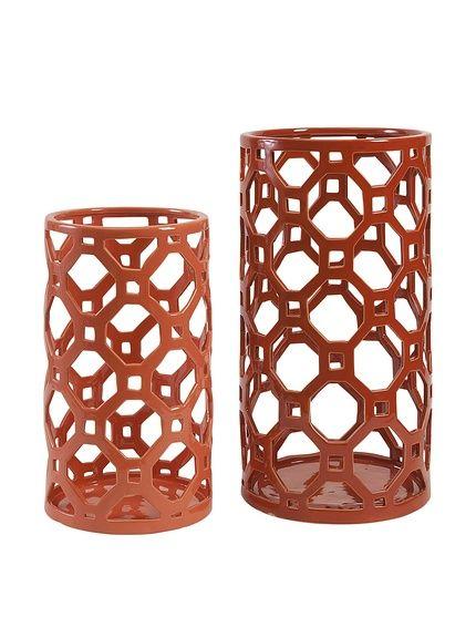 $39 16.5x9, 13x7 Set Of 2 Archard Cutwork Ceramic Vase, Multi, http://www.myhabit.com/redirect/ref=qd_sw_dp_pi_li?url=http%3A%2F%2Fwww.myhabit.com%2Fdp%2FB00N2F3GD8%3F