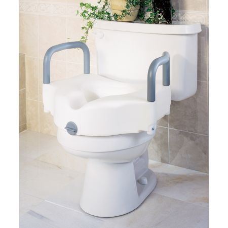 Drive Drive Medical Elevated Raised Toilet Seat Raised Toilet