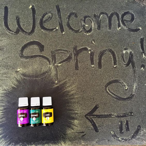 Springtime essential oil trio