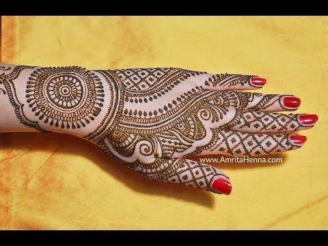 Easy Simple Bridal Mehendi Design For Back Side How To
